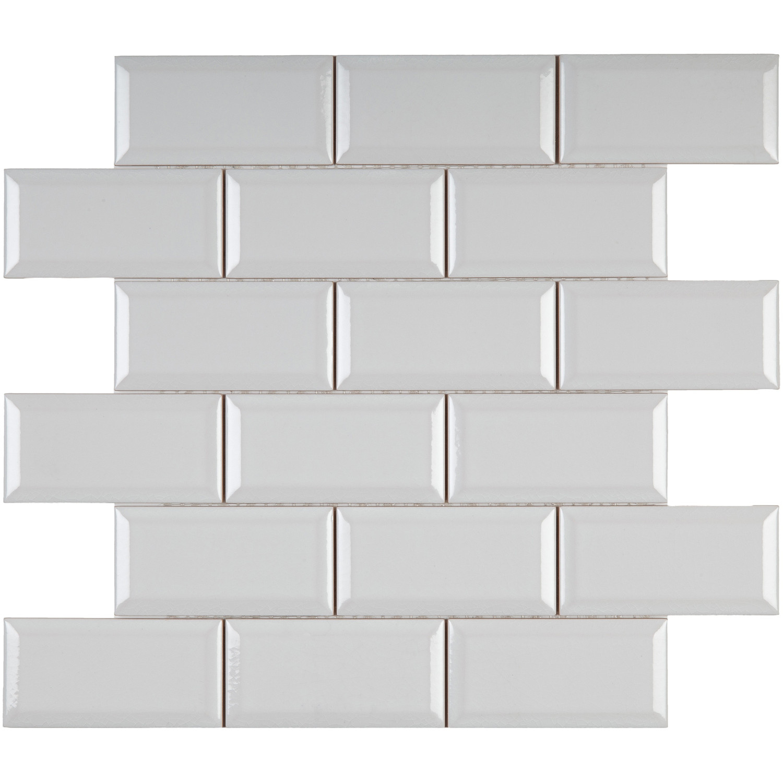Musterprobe Liso PB C/C blanco krakelee auf Netz– Bild 2