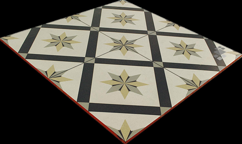 Bodenfliese/Wandfliese viktorianisch 44,7x44,7cm Dekor Adele – Bild 3