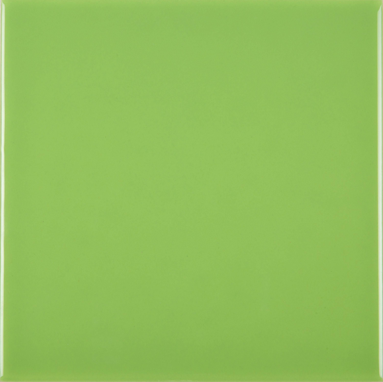 Wandfliese 15 x 15 cm grün glänzend Pistacho  – Bild 1
