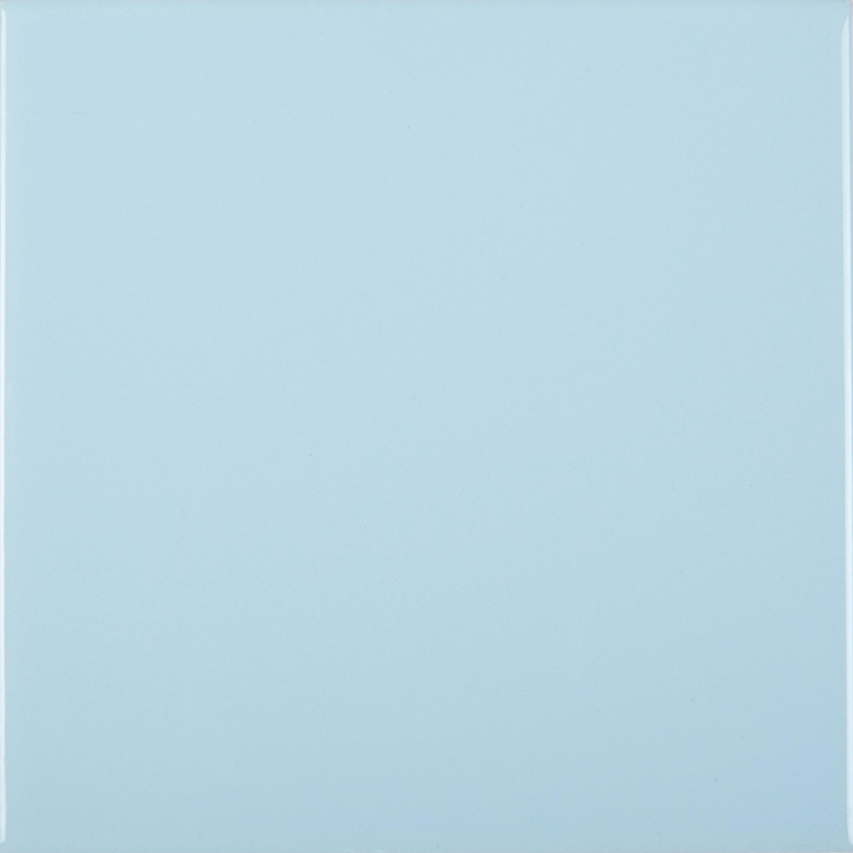 Wandfliese 15 x 15 cm blau glänzend Azul  – Bild 1