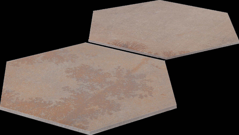 Bodenfliese Sechseck Braun Avalon Esagona 34,5 x 39,8 cm – Bild 2