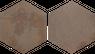 Bodenfliese Sechseck Braun Avalon Esagona 34,5 x 39,8 cm – Bild 1