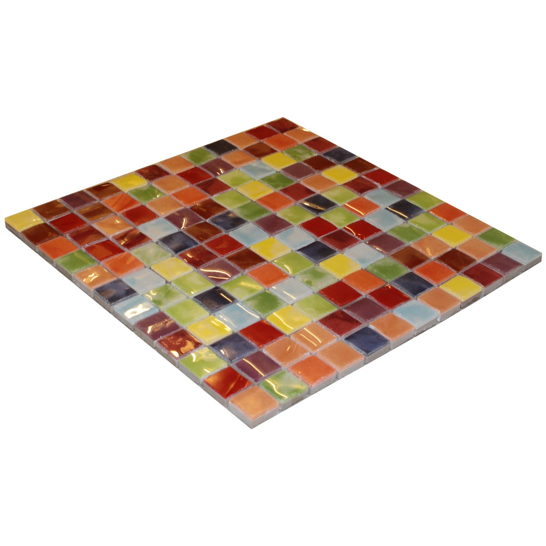 Mosaik Bunt gemixt Mosaikfliese bunt Musiva Mix 28,6 x 28,6 cm – Bild 2