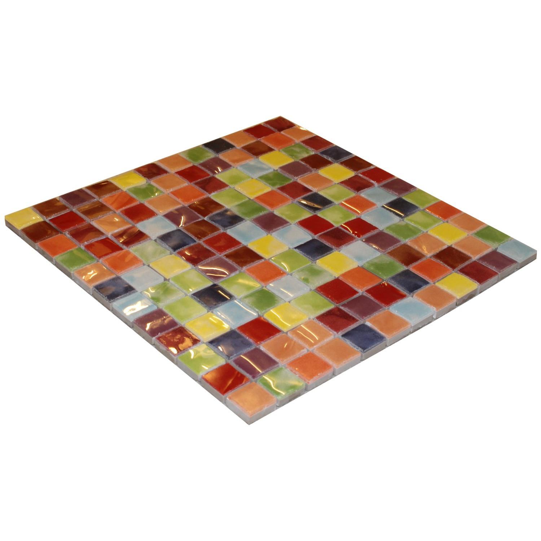 Mosaik Bunt gemixt Mosaikfliese bunt Musiva Mix 28,6 x 28,6 cm– Bild 2