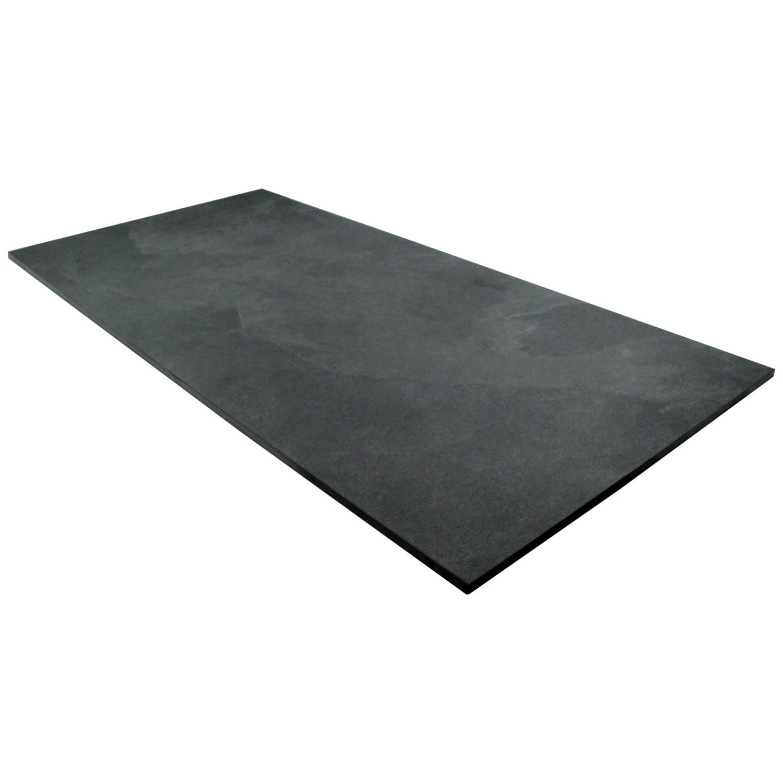 Bodenfliese Schieferoptik Feinsteinzeug 45 x 90 cm Slate Black – Bild 3