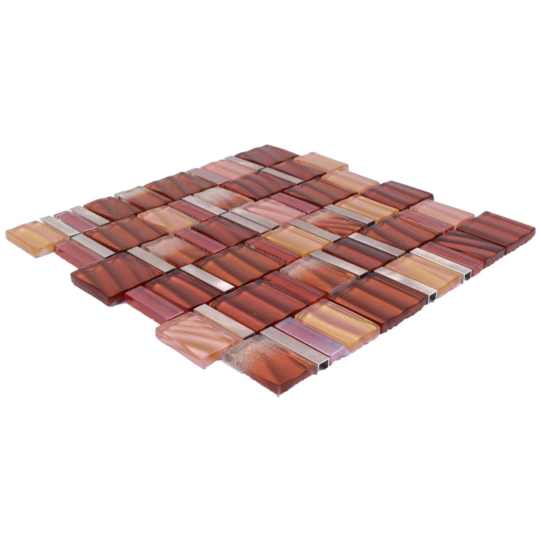 Glass-Aluminium Mosaic Sun Red