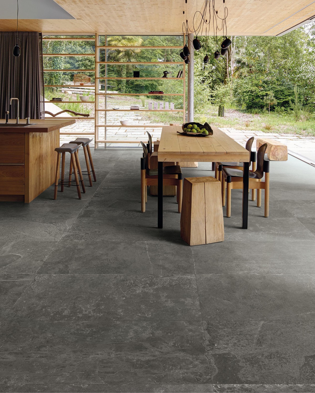 Floor Tile Slate Optical 45 x 90 cm Mystique Black Natural – Bild 1