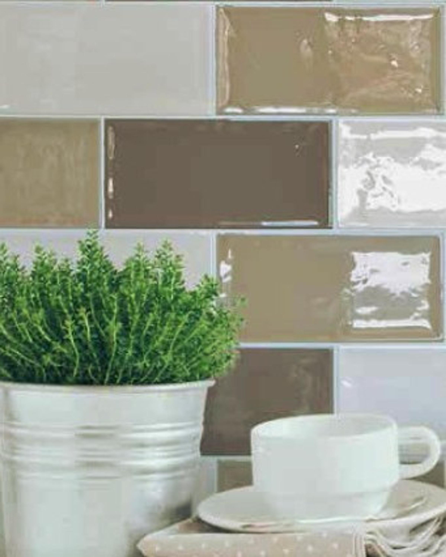 Wandfliese Küche Bad creme Artisan hueso 10 x 20 cm – Bild 1
