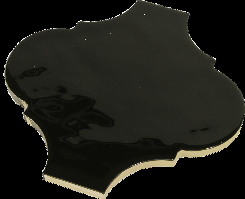 Wandfliese schwarz Retro Arabesque Silk Ardesia 14,5 x 14,5 cm– Bild 2