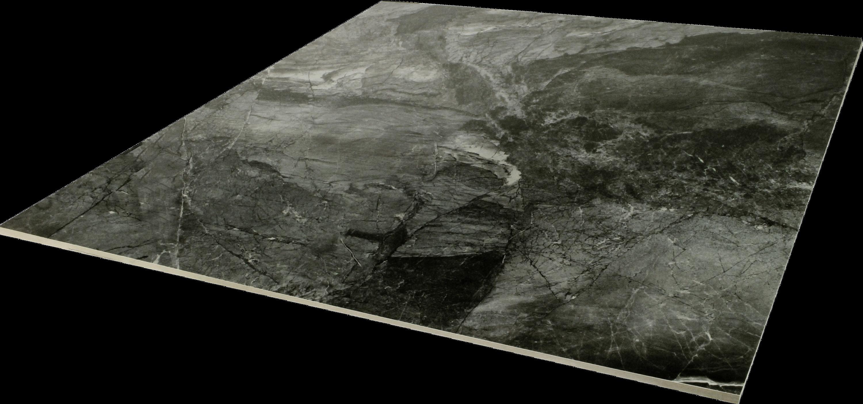 Bodenfliese poliert Marmoroptik anthrazit Omega anthrazit 80x80 cm – Bild 2