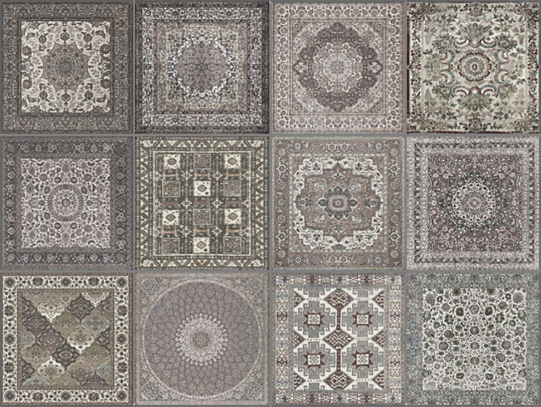 Dekorfliese Teppichfliese Kilim Nain 59,55 x 59,55 cm  – Bild 5