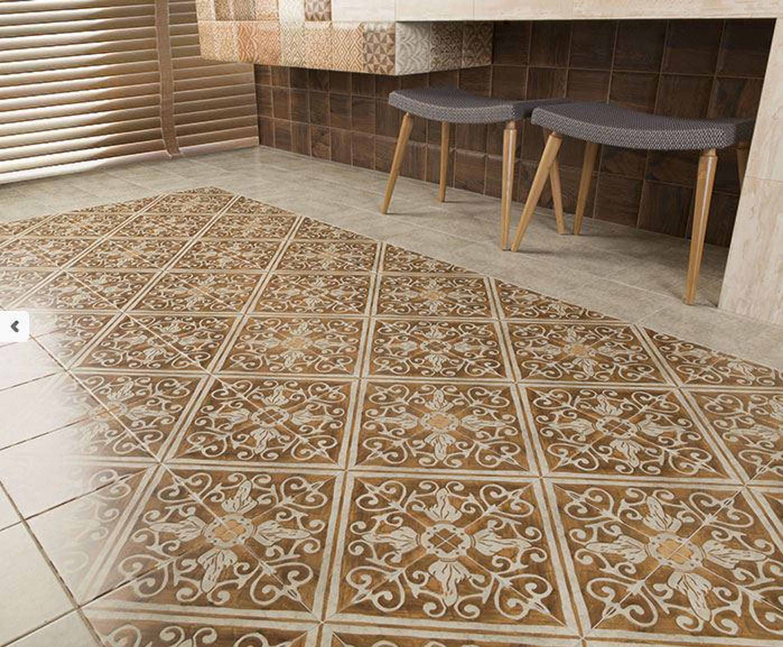 Bodenfliese Küche ocker mediterrane Fliese maurisch 20x20cm Lisboa Ochre Keramikfliese – Bild 4