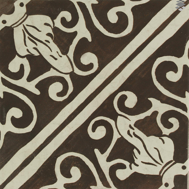Bodenfliese Küche mediterrane Fliese maurisch 20x20cm Lisboa Choco Keramikfliese– Bild 2