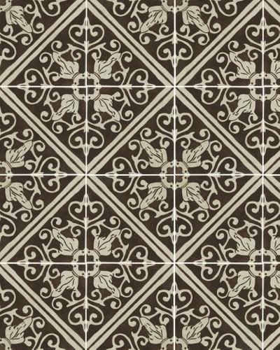 Bodenfliese Retro Kolonial Pav. Lisboa Choco 20 x 20 cm