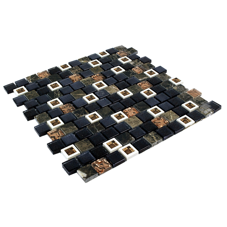 Mosaik Retro Kunststoff Glas Naturstein Mosaik 2,3x2,3  HLM001 – Bild 2