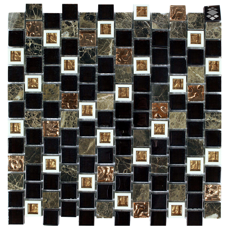 Mosaik Retro Kunststoff Glas Naturstein Mosaik 2,3x2,3  HLM001 – Bild 1