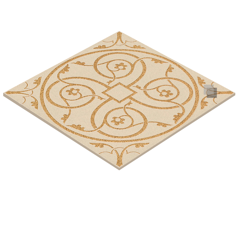 Sandgestrahltes Gravieren Feinsteinzeugdecor Panno Milan 60 x 60 cm – Bild 3