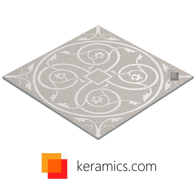 Sandgestrahltes Gravieren Feinsteinzeugdecor Panno Milan 60 x 60 cm– Bild 2