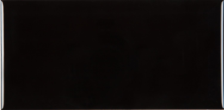 Metrofliese schwarz glänzend Vintage Wandfliese 7,5 x 15 cm Küche Bad Subwayfliese– Bild 2