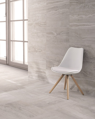 Floor Tile / Wall Tile Natural Stone Optical Porcelain Stoneware Reverso Grigio 45x90 rectified