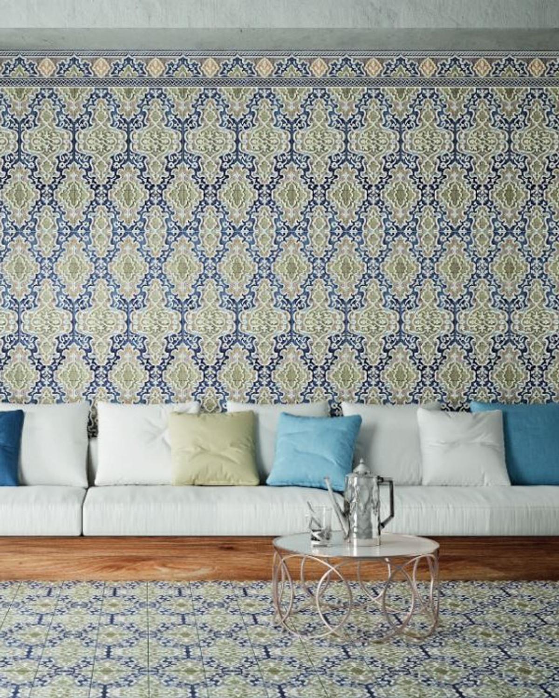 """Orientalische Bodenfliese """"Arabische"""" Bodenfliese Tawriq Blue Natural 59,2 x 59,2 cm– Bild 2"""