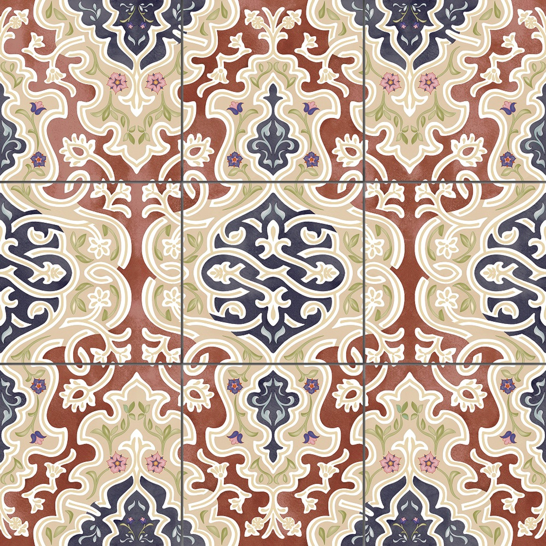 """Orientalische Bodenfliese """"Arabische"""" Bodenfliese Tawriq Brown Natural 59,2 x 59,2 cm – Bild 1"""