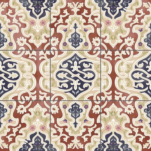"""Orientalische Bodenfliese """"Arabische"""" Bodenfliese Tawriq Brown Natural 59,2 x 59,2 cm"""