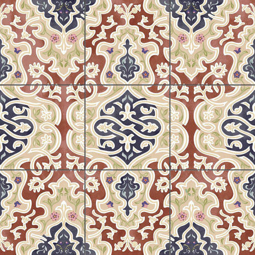 "Oriantal Floor Tile ""Arabian"" Floor Tile Tawriq Brown Natural 59,2 x 59,2 cm"