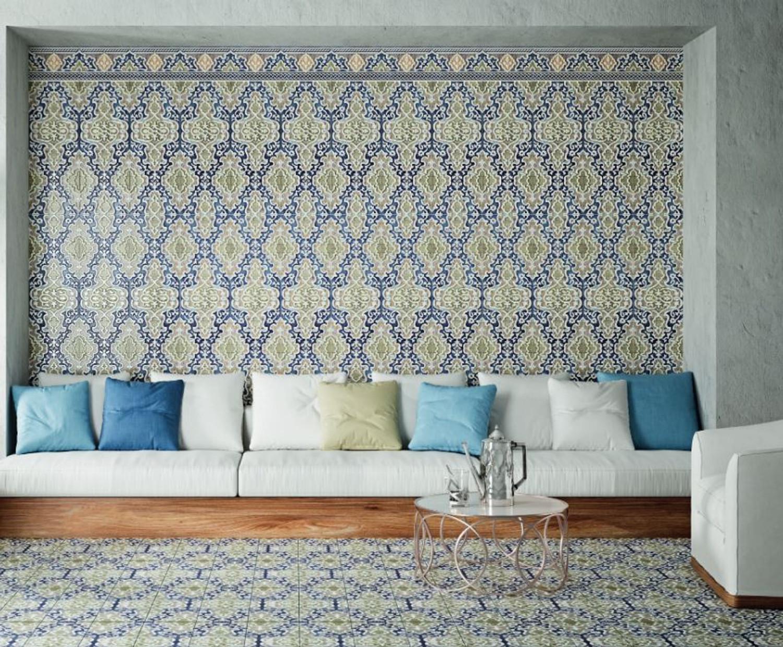 """Orientalische Wandfliese """"Arabische"""" Wandfliese Tawriq Blue Zaida 29,75 x 99,55 cm – Bild 4"""