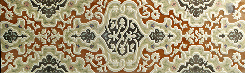 """Orientalische Wandfliese """"Arabische"""" Wandfliese Tawriq Brown Zaida 29,75 x 99,55 cm  – Bild 1"""