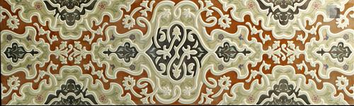 Oriental Wall Tile Arabian Wall Tile Tawriq Brown Zaida 29,75 x 99,55 cm