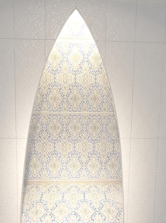 """Orientalische Wandfliese """"Arabische"""" Wandfliese Tawriq White Zaida 29,75 x 99,55 cm  – Bild 3"""
