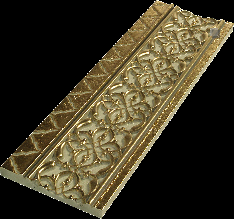 """Orientalische Bordüre """"Arabische"""" Bordüre gold Tawriq Cenefa 9 x 29,75 cm  – Bild 3"""