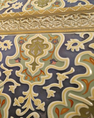 """Orientalische Bordüre """"Arabische"""" Bordüre gold Tawriq Cenefa 9 x 29,75 cm"""