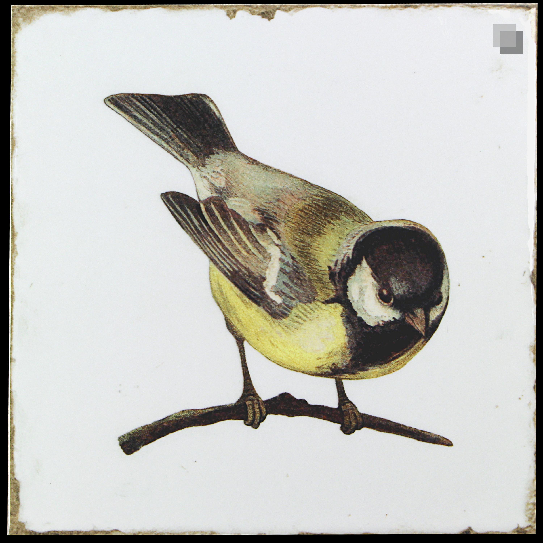 Dekorfliese Vögel Nostalgische Fliesen Forli birds decor set 20 x 20 cm – Bild 1
