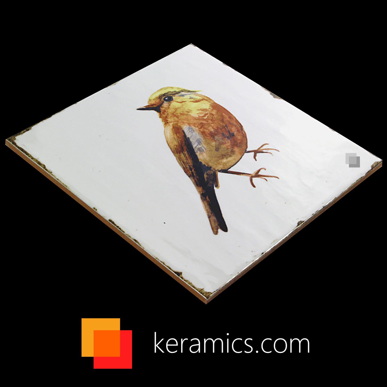 Dekorfliese Vögel Nostalgische Fliesen Forli birds decor set 20 x 20 cm– Bild 7