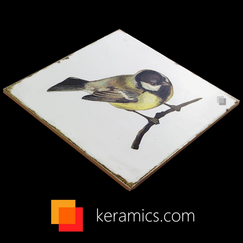 Dekorfliese Vögel Nostalgische Fliesen Forli birds decor set 20 x 20 cm– Bild 8