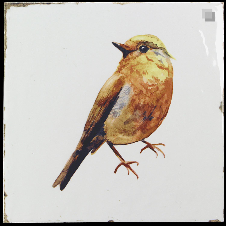 Dekorfliese Vögel Nostalgische Fliesen Forli birds decor set 20 x 20 cm– Bild 4