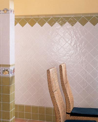 Wandfliese Landhaus Fliese Küche Bad Aranda Blanco 13 x 13 cm