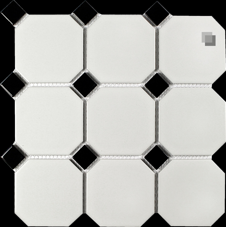 Achteck Mosaik weiss matt Achteckmosaik 9,5 x 9,5 cm – Bild 1