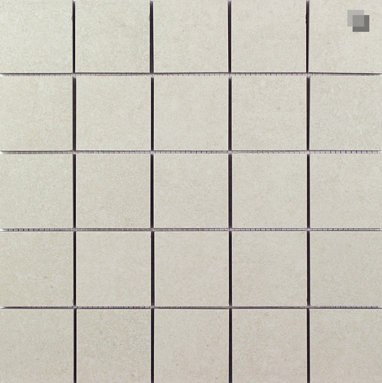 Mosaik Betonoptik Creme Feinsteinzeug Smart Ivory 30x30 cm – Bild 1