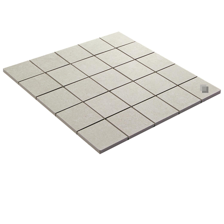 Mosaik Betonoptik Creme Feinsteinzeug Smart Ivory 30x30 cm– Bild 2
