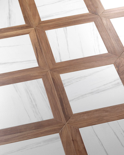 Floor Tile Wood Optical Square Dolomite 47,8 x 47,8 cm