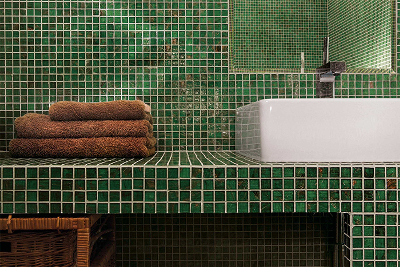 Exklusives Jade Mosaik 043 grün 32,7x32,7 cm – Bild 3