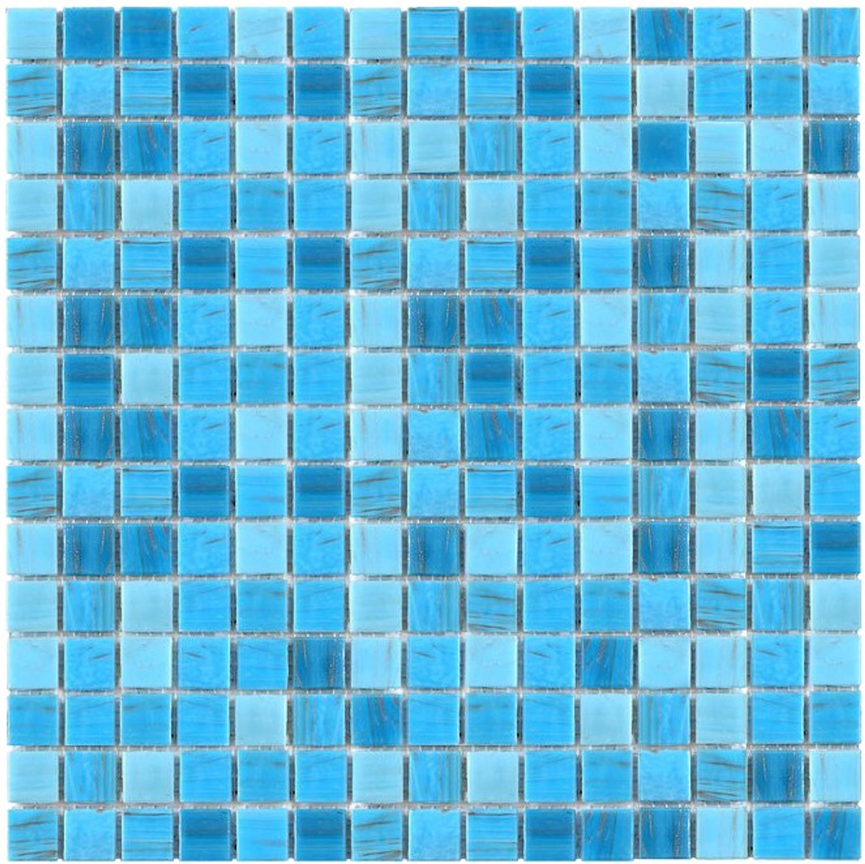 Exclusiv Mosaic Tile Jade Mosaic 105 blue 32,7x32,7 cm
