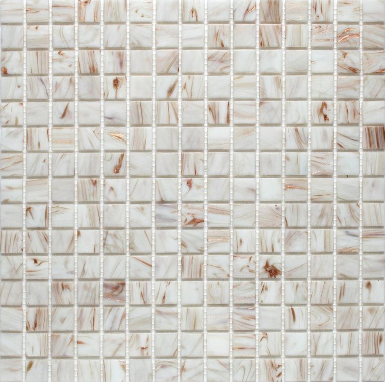 Exclusiv Mosaic Tile Jade Mosaic 110 White/Copper 32,7x32,7 cm