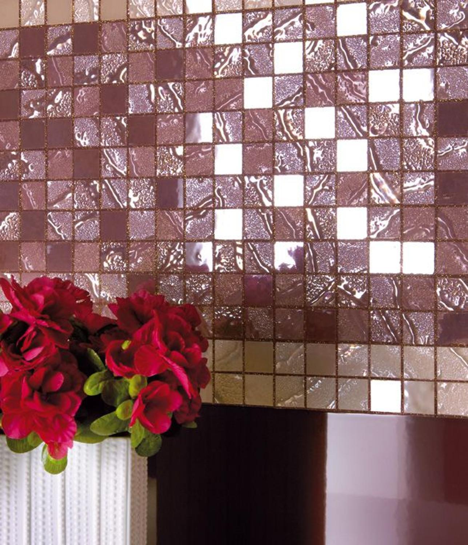 Edelmosaik silber Four Seasons bloom  30 x 30cm– Bild 2