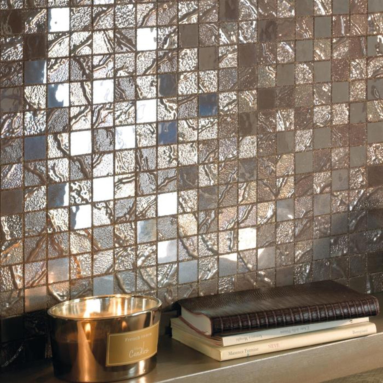 Edelmosaik Braun Four Seasons Wood 30 x 30cm – Bild 2