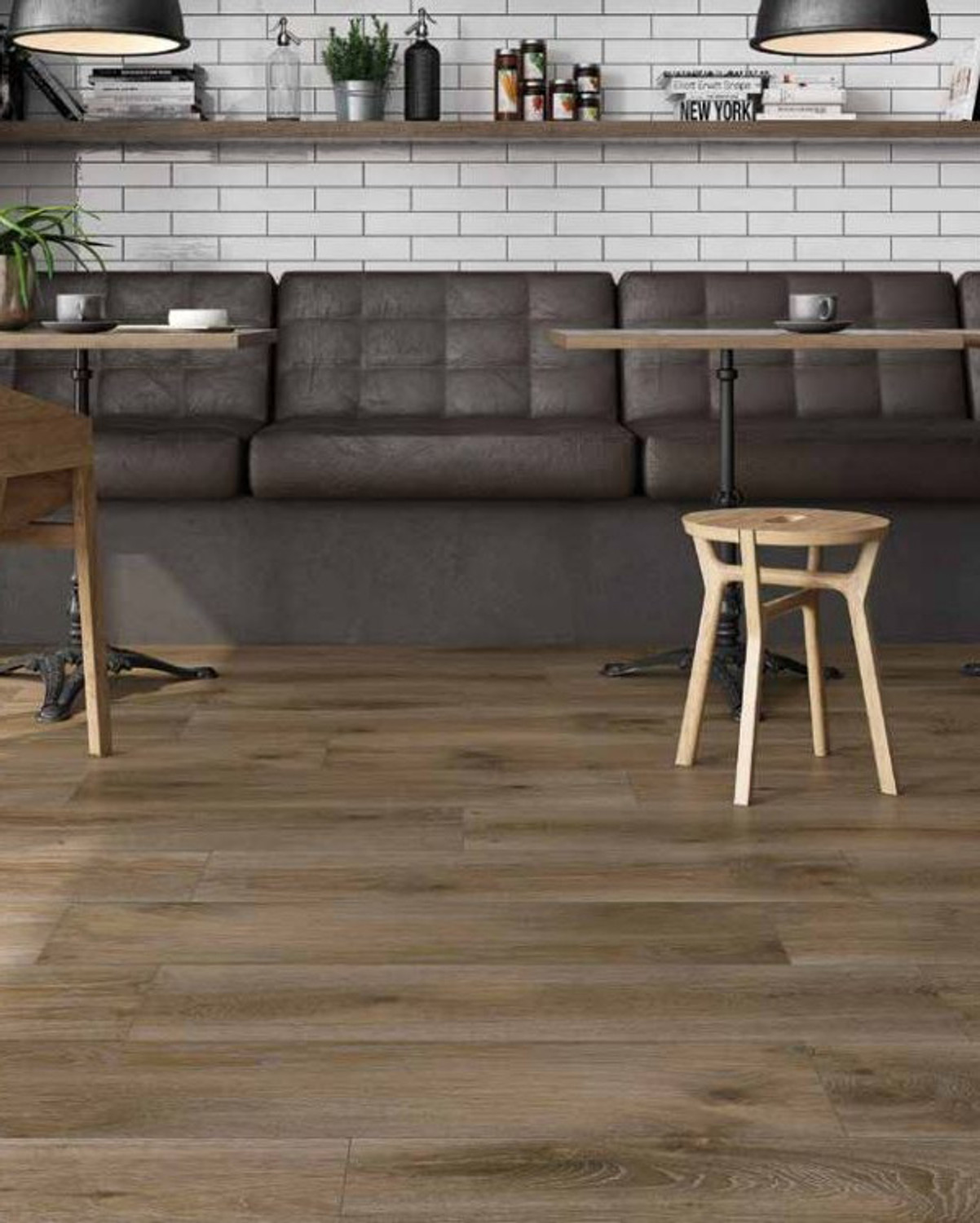 Floor Tile Wood Optical Brown Ess.Outi Roble 25x100 cm