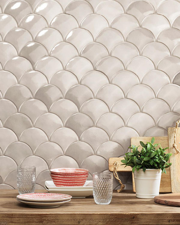 Decor Tile Grey Wall tile Squama Mist